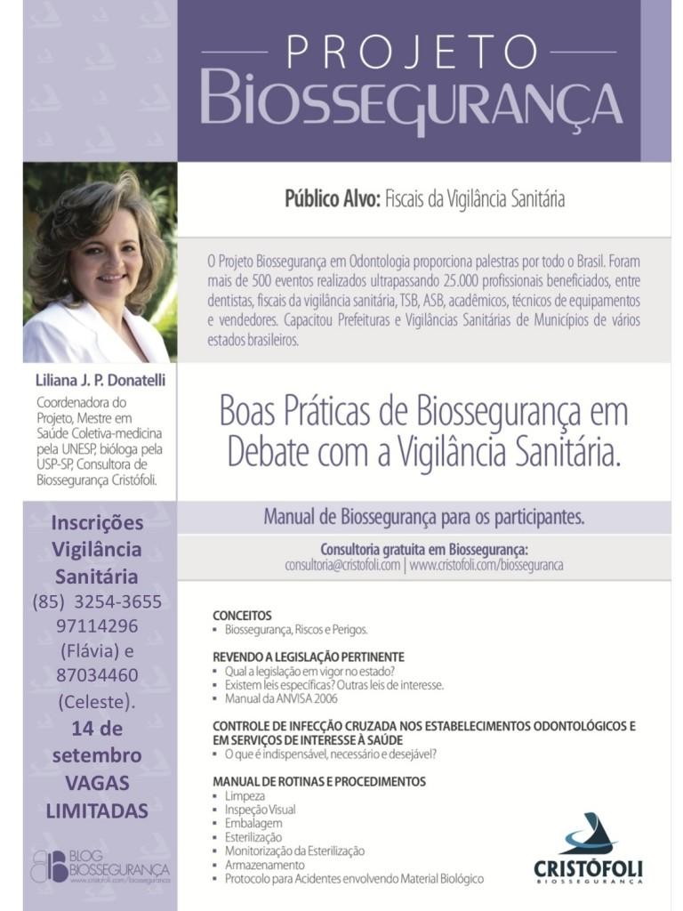 Capacitação para Fiscais da Vigilância Sanitária- Liliana Donatelli em Fortaleza
