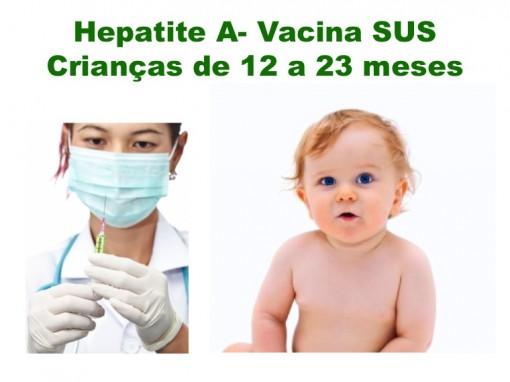 Vacina contra Hepatite A disponível pelo SUS em todo o Brasil até Setembro