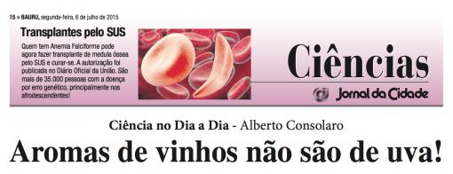 Aromas de vinho não são de uva! Por Alberto Consolaro.
