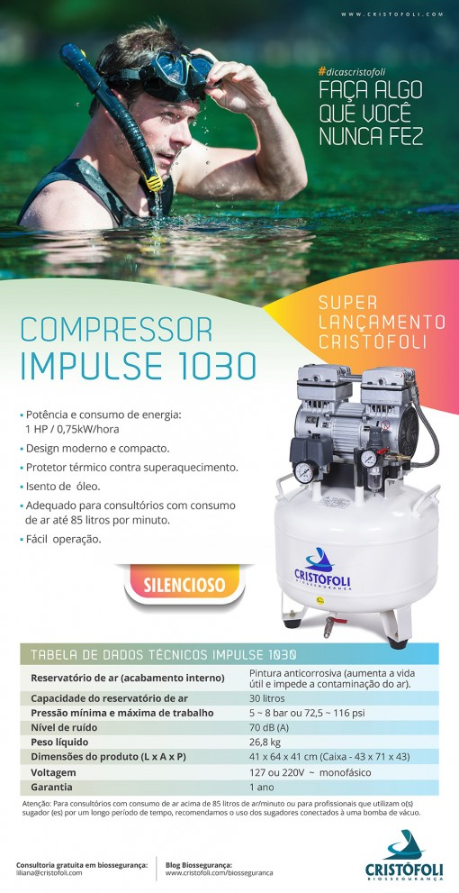 Compressor Impulse 1030 Odontologia